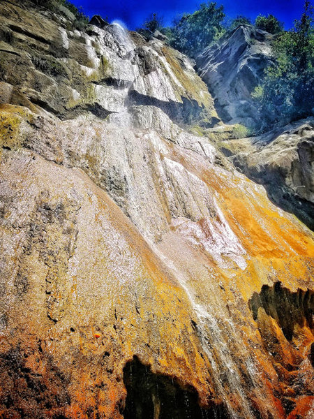 You can see why Tangerine Falls may have gotten its name.