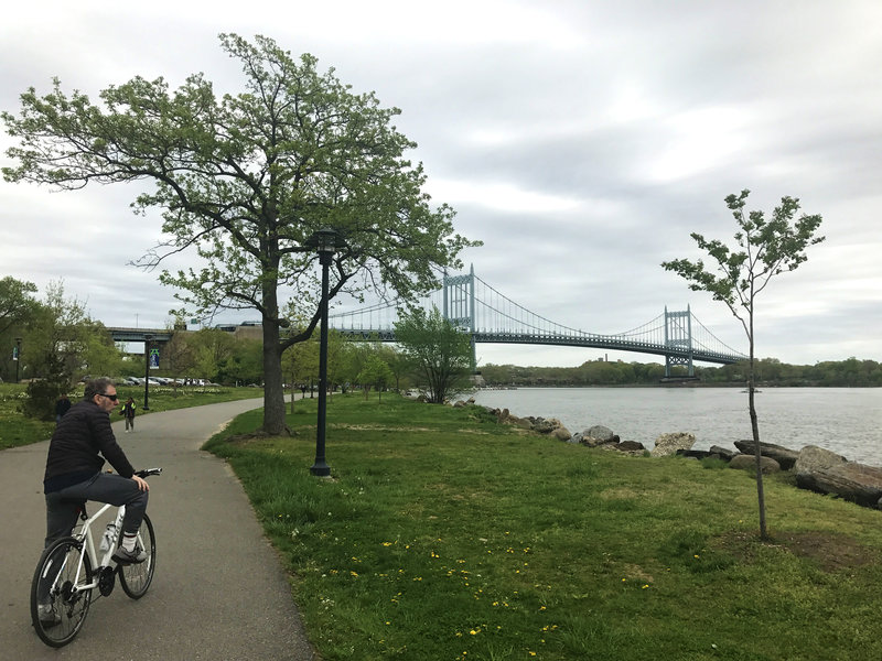 The RFK/Triborough Bridge at the south point of Wards Island.