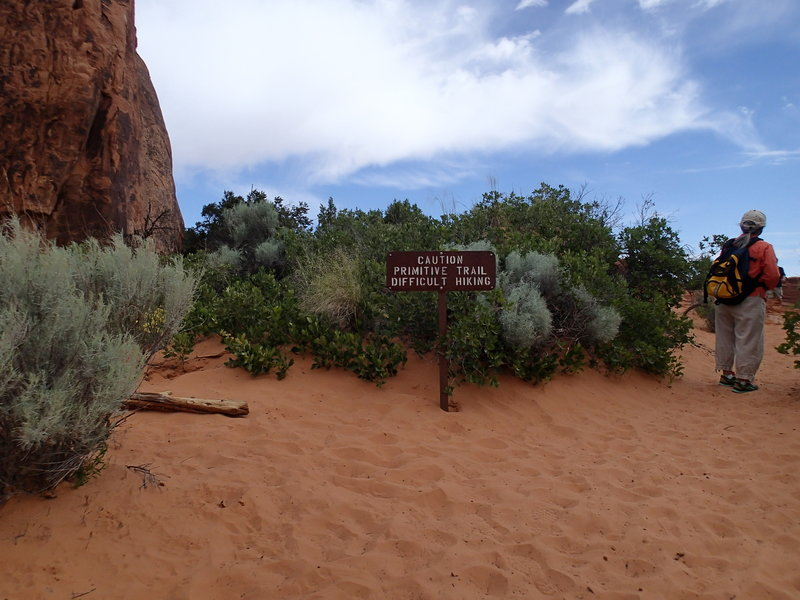 Start of the Primitive Trail.