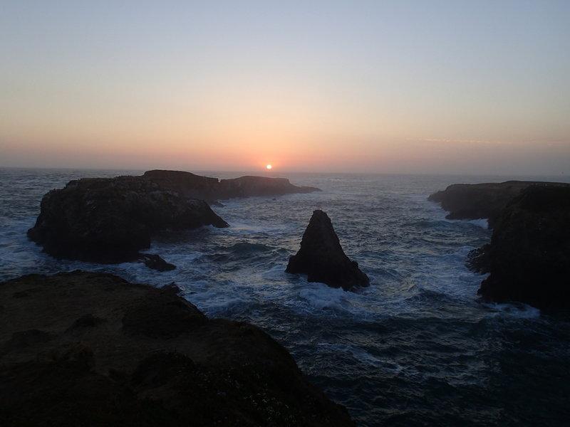 A beautiful sunset over the coast.