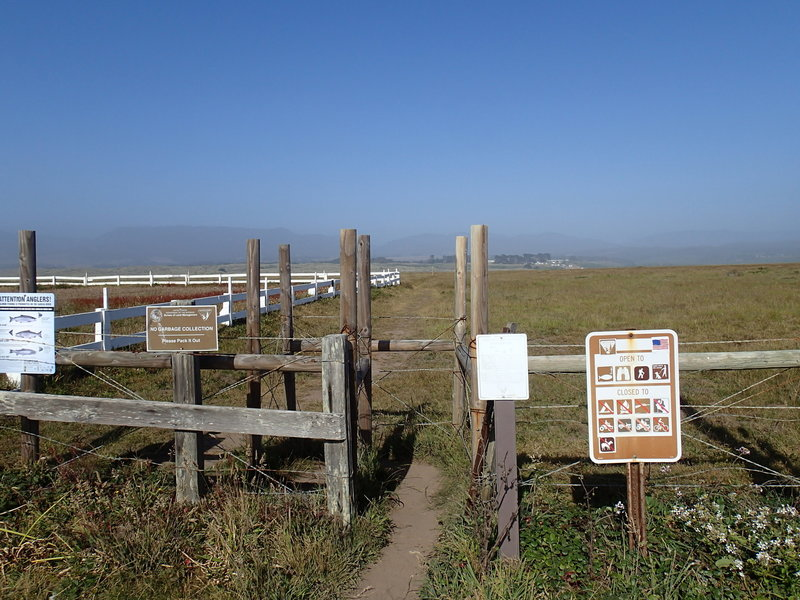 The trailhead is well marked by this sign.