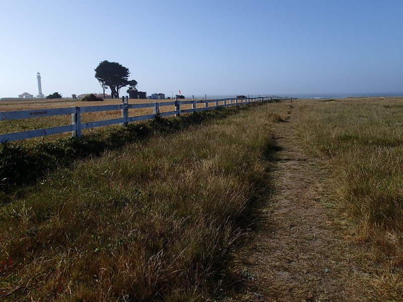 A view of the trail and lighthouse.