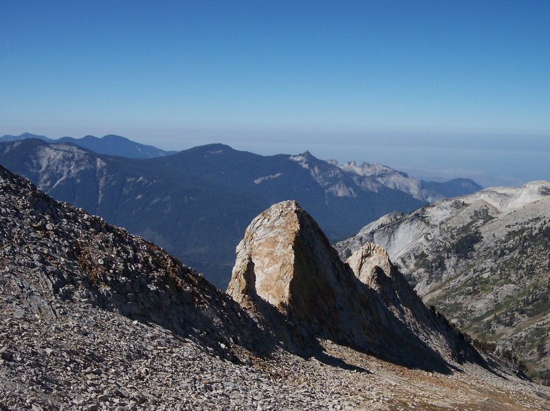 This is the view southwest from near the top of Elizabeth Pass. What a climb it was.