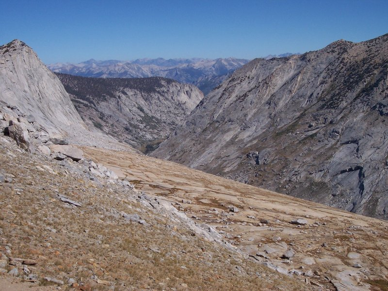 Deadman Canyon is stunning when viewed from the top of Elizabeth Pass.