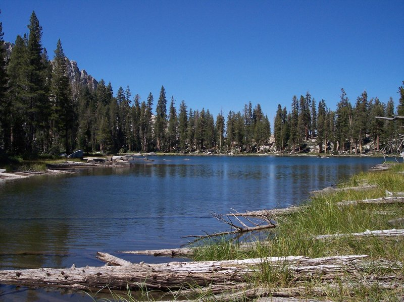 Ranger Lake provides a cool respite at the base of Silliman Pass.