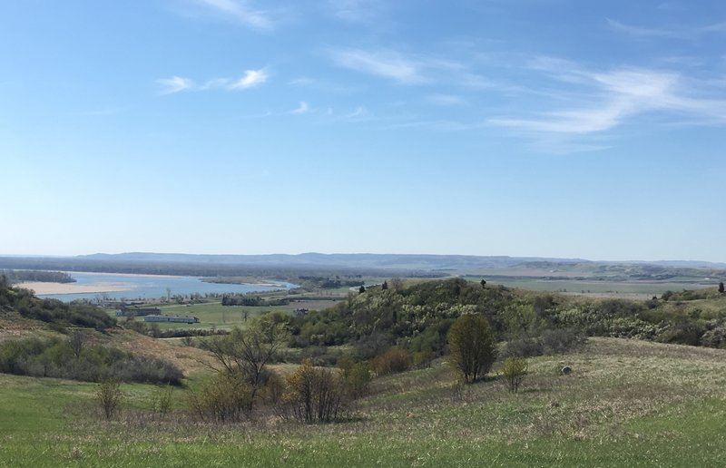 Enjoy the view of the Missouri River from Cavalry Post at Fort Abraham Lincoln State Park.