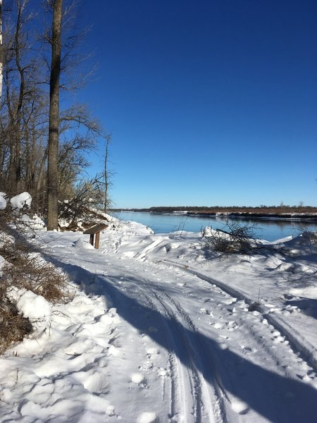 Winter breathes new life into the Cross Ranch State Park Interpretive Trail.