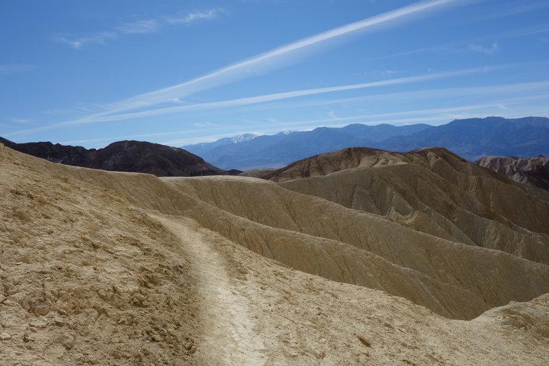 Golden Canyon offers great desert views along the trail.