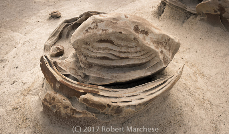 """This is one of the """"Cracked Eggs"""" you may encounter in the Bisti De Na Zin Wilderness Area."""