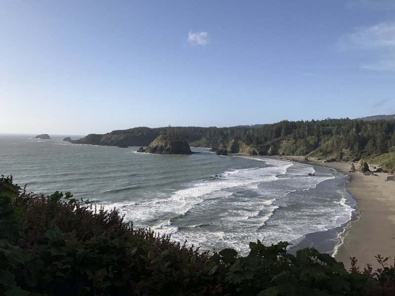 Trinidad State Beach is quite beautiful from the Trinidad Head Trail.