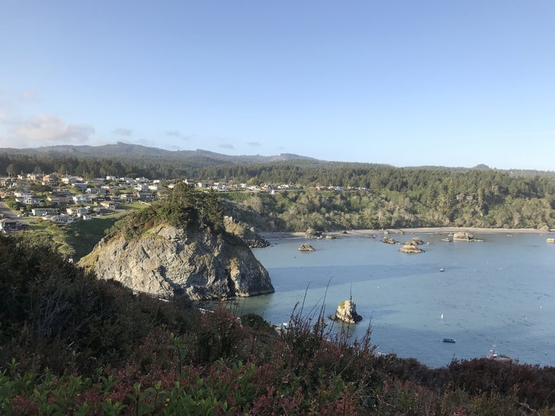 Experience a gorgeous Trinidad Bay view from the Trinidad Head Loop Trail.