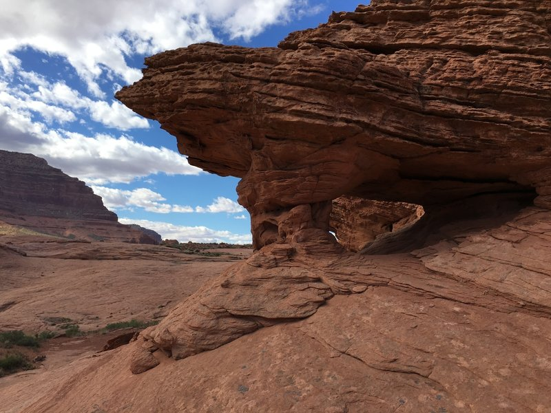 Check out this cool arch on the way to Reflection Canyon.