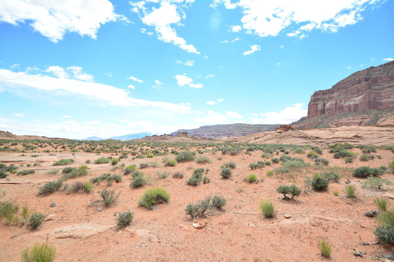 The parking area for Reflection Canyon is seemingly in the middle of nowhere, but that's because it is.