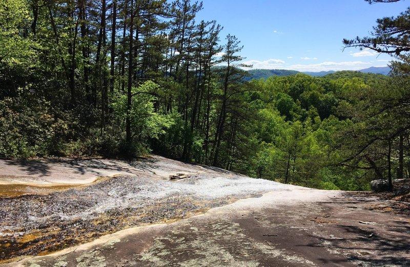 The top of the falls brings beautiful views.