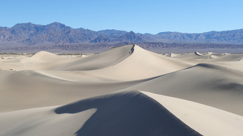 Curved space, if not time, exists at Mesquite Sand Dunes.