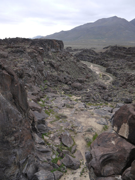 This is the view downstream of Fossil Falls.