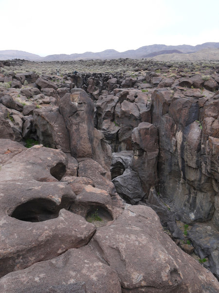 "The ""goblin"" of Fossil Falls awaits his next visitor."
