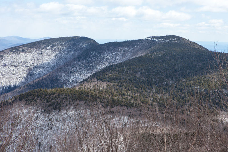 Enjoy pleasant winter views from the summit of Slide Mountain.