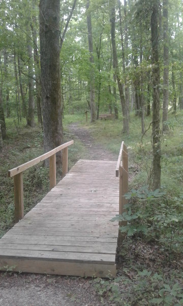 A sturdy footbridge aids your passage along the trail.