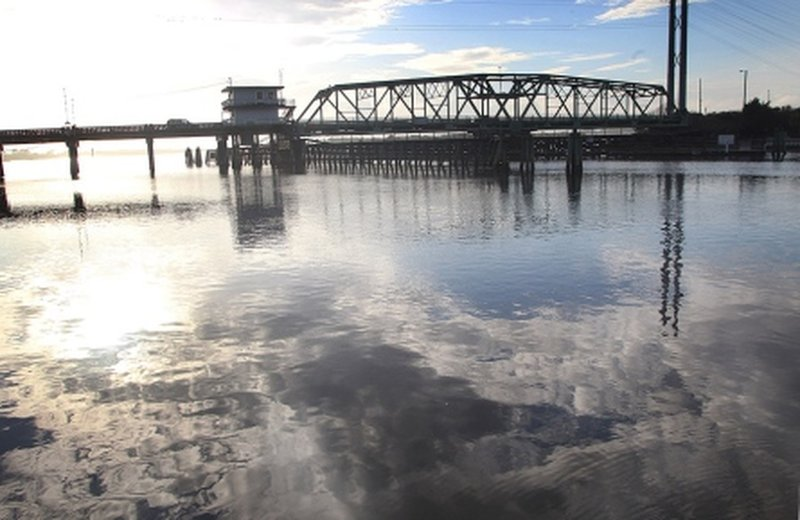 Surf City swing bridge aids your passage over the water.