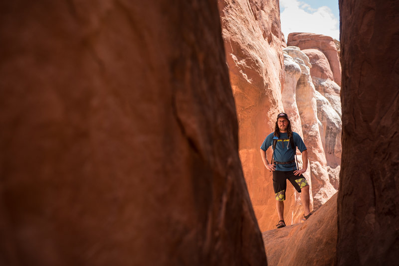 Slot canyons, immense rock formations, and unique flora and fauna make the Fiery Furnace a masterpiece of nature.