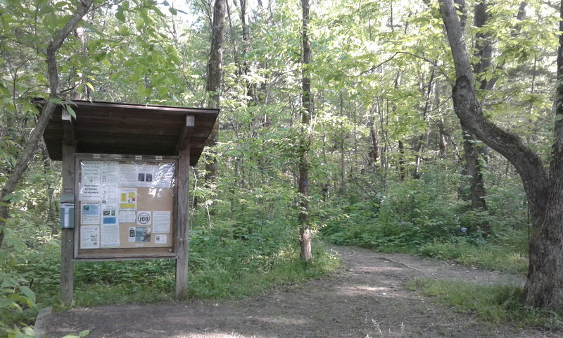 The start of the trails is marked by this informative kiosk.