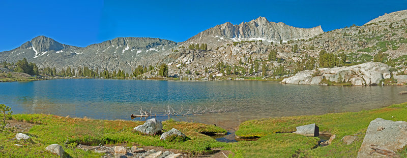 This lake sits at 10,400 ft. about 1/4 mile below the trail. It is well worth a visit!