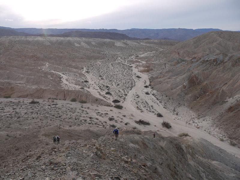 The start of the Mine Peak ascent is steep.