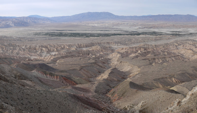 Enjoy this view of the Carrizo Badlands to the NNW.