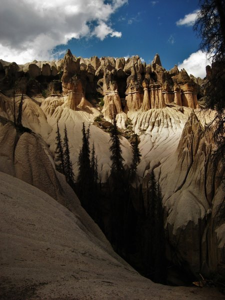 The ghostly hoodoos of Wheeler Geologic Area look to me like a slice of Bryce Canyon, Utah was scooped up out of the earth and plopped right down into the middle of the San Juans.
