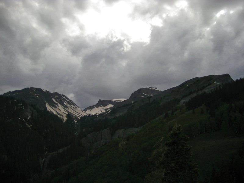 Whitehouse Mountain stands above the headwaters of Oak Creek, where a lost mining lode is said to exist.