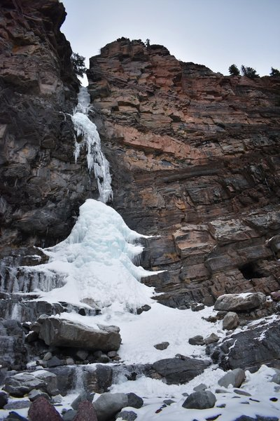 Lower Cascade Falls becomes encased in ice come winter.