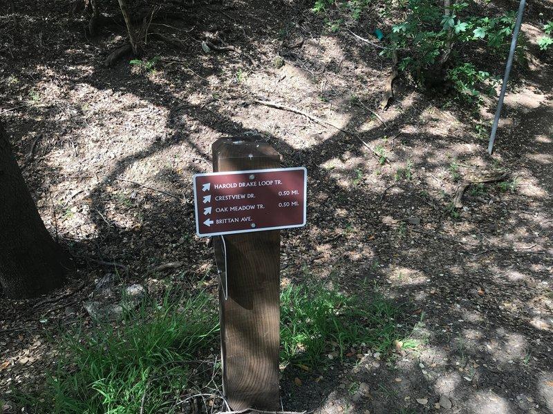 Good signage makes navigating easy in Big Canyon Park.