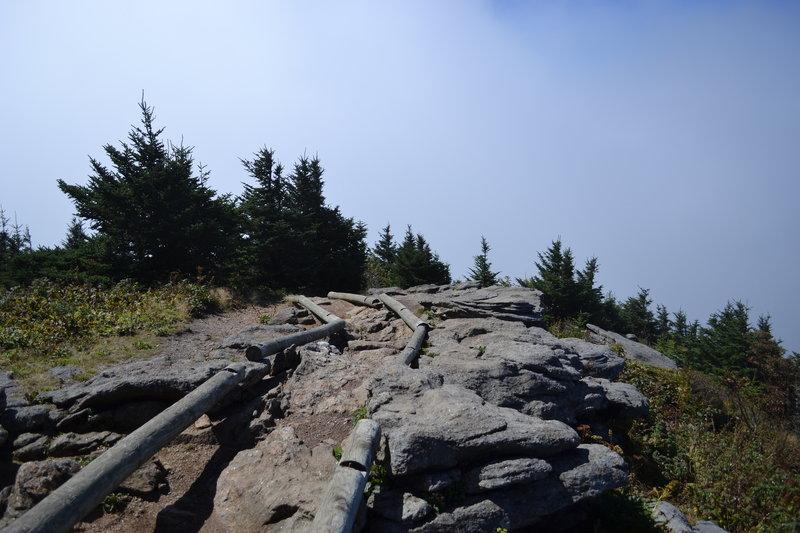 Black Mountain Crest Trail near the Mt. Craig marker.
