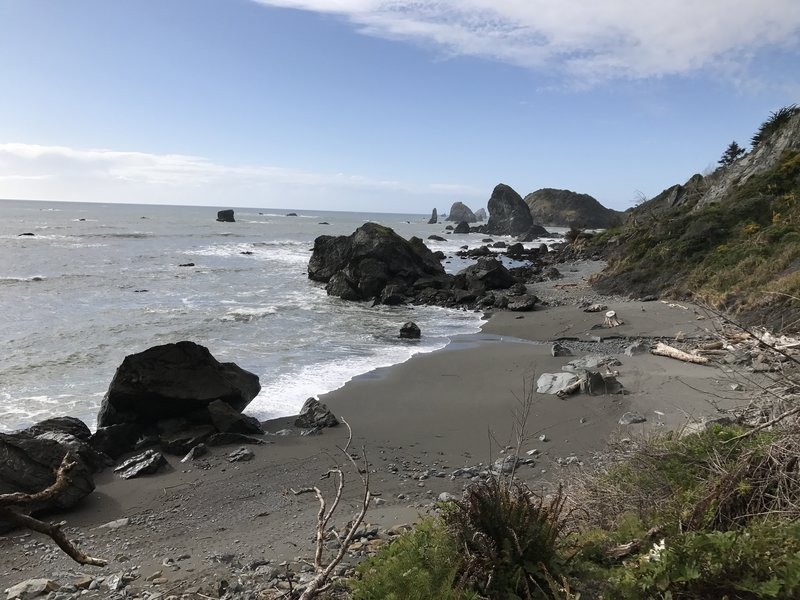 Martin Creek Beach is secluded and quite beautiful.