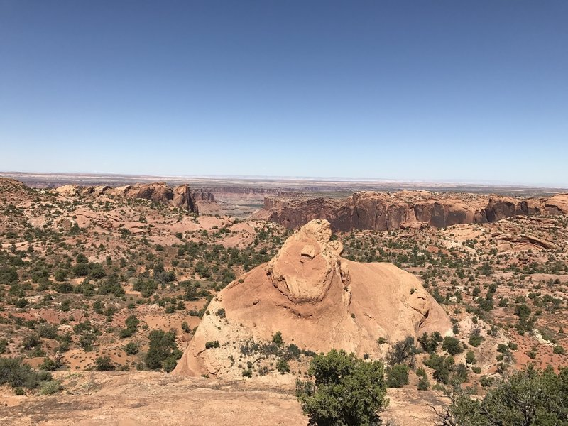 Enjoy a stunning desert view from the Whale Rock Trail.