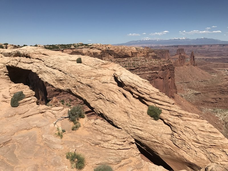 Mesa Arch provides a stunning addition to the view in Canyonlands National Park.