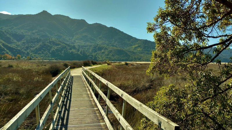 Starting off on Abel Tasman Track, enjoy this sturdy bridge and awesome views.