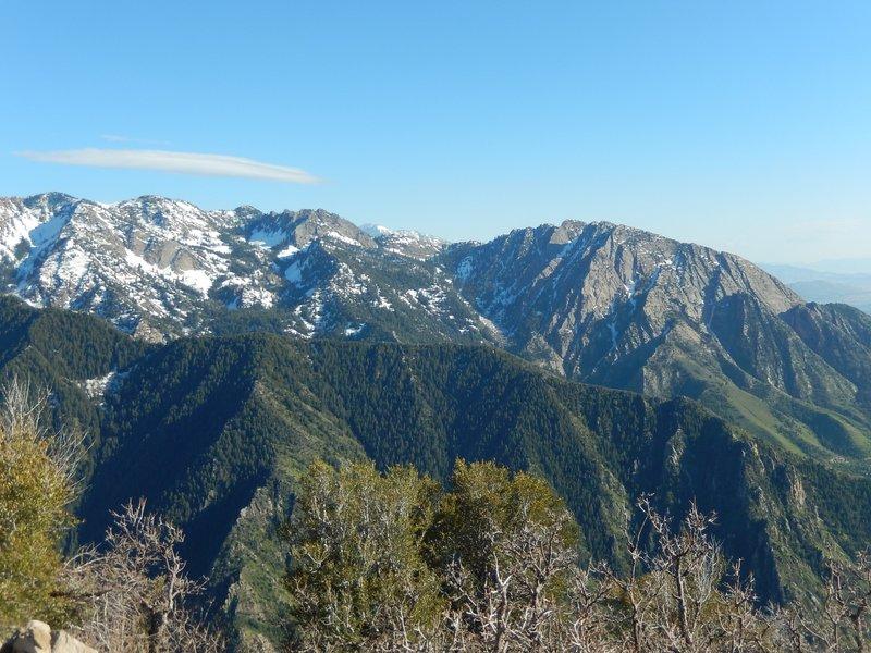 Mt. Olympus and Hobb's Peak are gorgeous when viewed from the summit of Grandeur Peak.