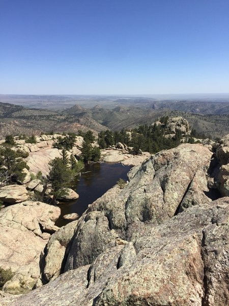 Enjoy a great view of the lake on top of Greyrock from the summit.