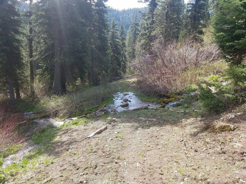 A small seasonal creek crossing.