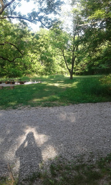 The trail crosses through the Group Camping Area.