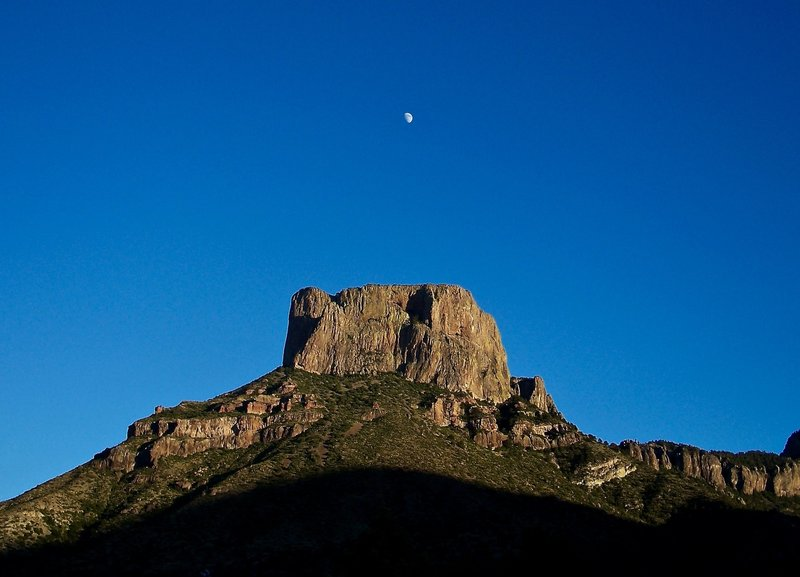 The sun sets on Casa Grande Peak.