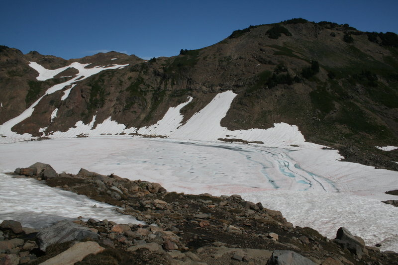 Goat Lake can remain frozen into the late fall.