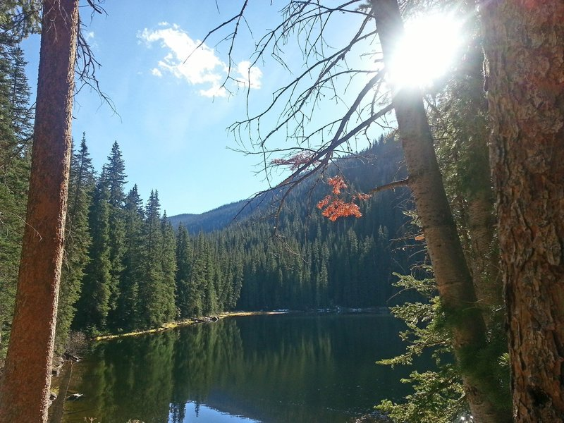 Beaver Lake is a nice spot to have a lunch, watch for wildlife, and listen to nature.