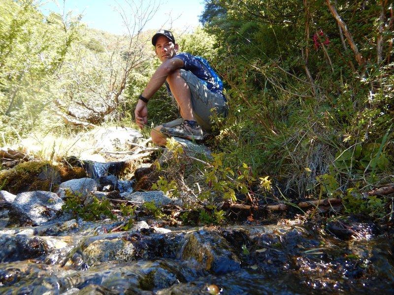 That's me enjoying the trail!