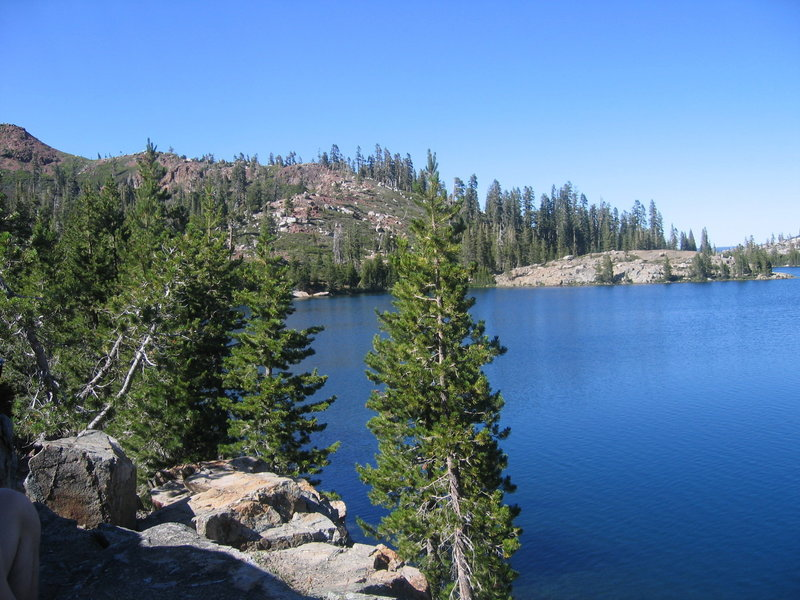 Island Lake is a great place to take a rest along the Crooked Lakes Trail.