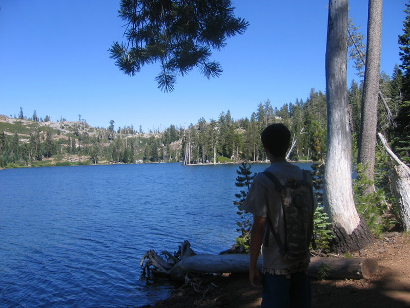 Stopping for a brief rest at Feeley Lake is always a great decision on this hike.