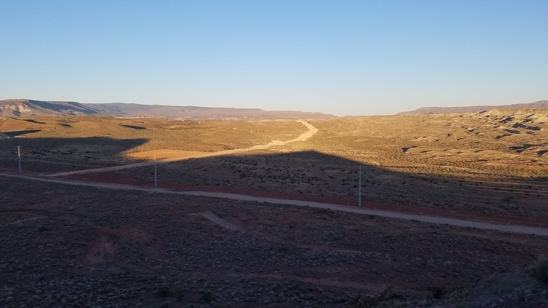 Desert Canyons Point offers a pleasant view looking west.