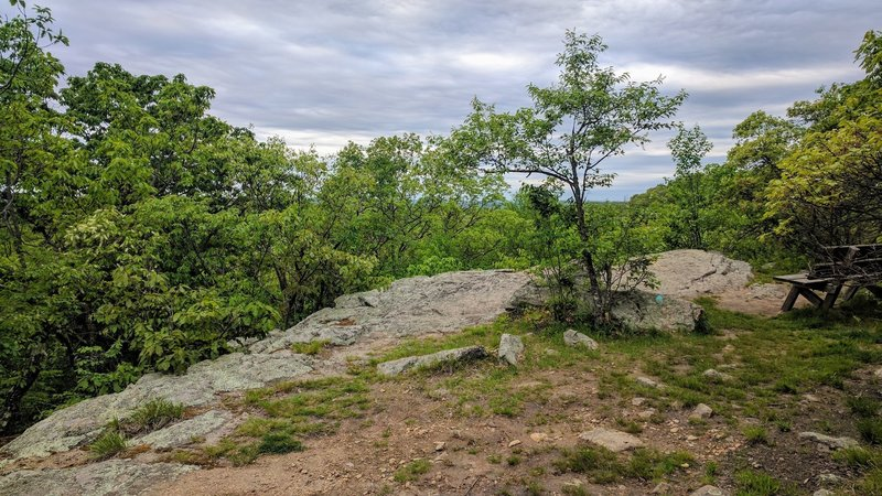 Headley Overlook, off the Highlands Trail, offers a pleasant mountain view.